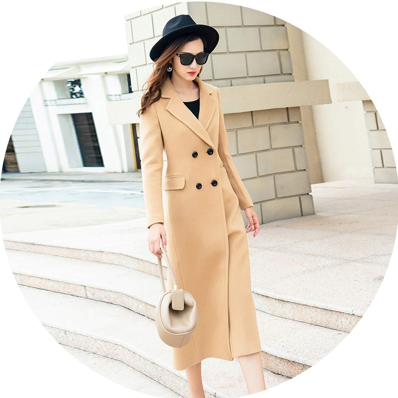Beige Dreamedge Winter Popular Overcoat Woman Fund Overknee SelfCultivation Wool Woolen Cloth Coat Long