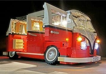 Set di luci a led per serie di creativi volkswagen t1 modello di