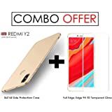 WOW Imagine All Angle Protection 360 Degree Ultra-Slim Fit Rubberised Matte Hard Back Cover for Xiaomi Mi Redmi Y2 (June 2018 Launch) -Champagne Gold