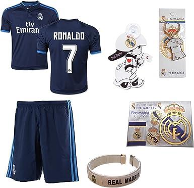 Isport Regalos® azul real Madrid Ronaldo # 7 Fútbol niños Jersey y ...