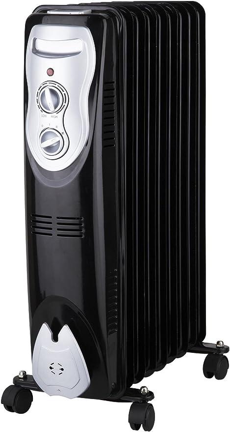 Calefactor Zephir ZRA1519 Piso 2000W Negro Color blanco Radiador Radiador, Negro, Color blanco, Aceite, Giratorio, 220-240 V, 50-60 Hz