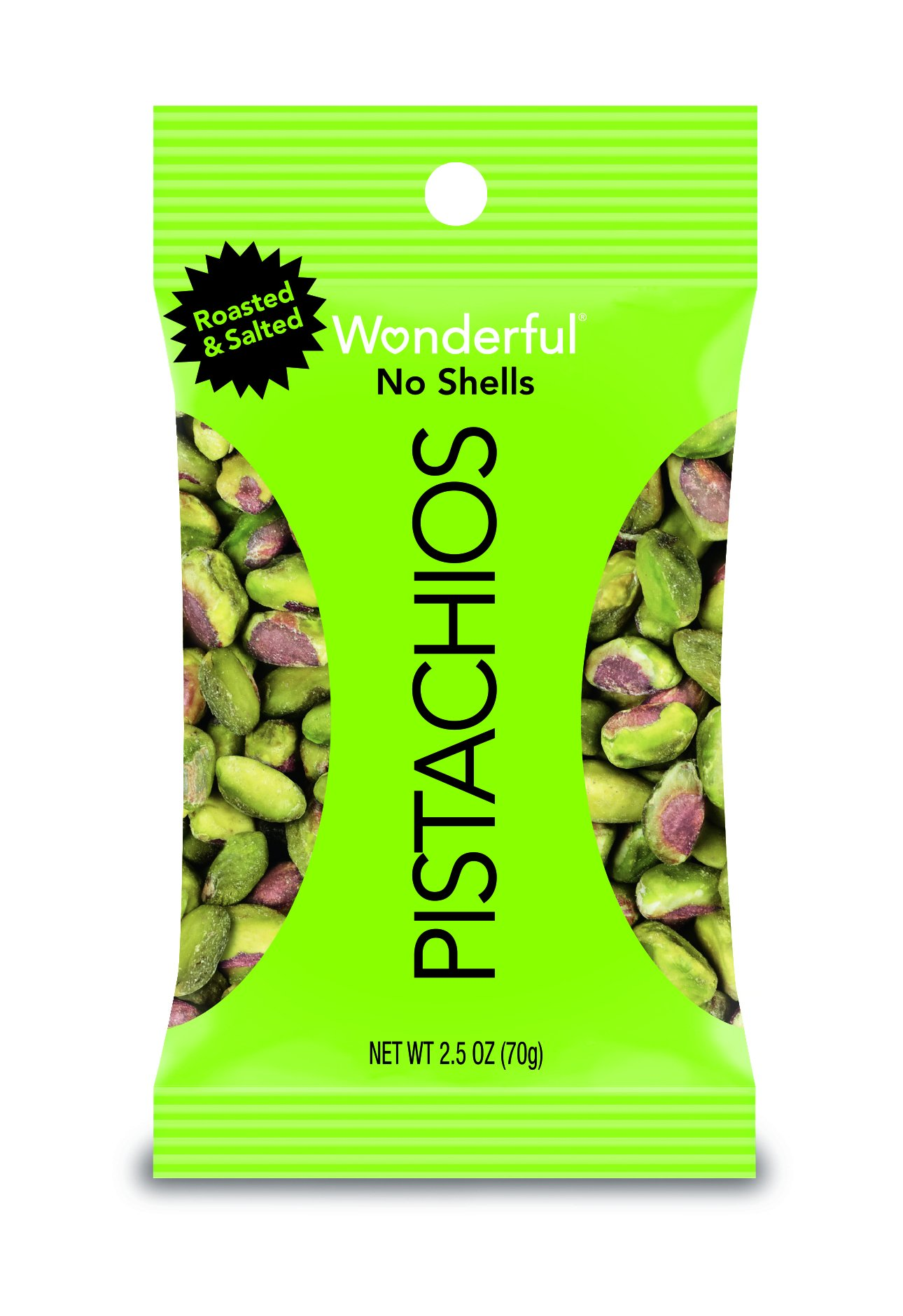 Wonderful Pistachios, No-Shell, Roasted and Salted, 2.5 Ounce Bag (Pack of 8) by Wonderful Pistachios & Almonds (Image #3)
