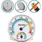 Thermo-Hygrometer, Temperatur Messgerät und Feuchtigkeit Messgerät Thermometer Hygrometer Analoges Kombigerät für Innen Außen