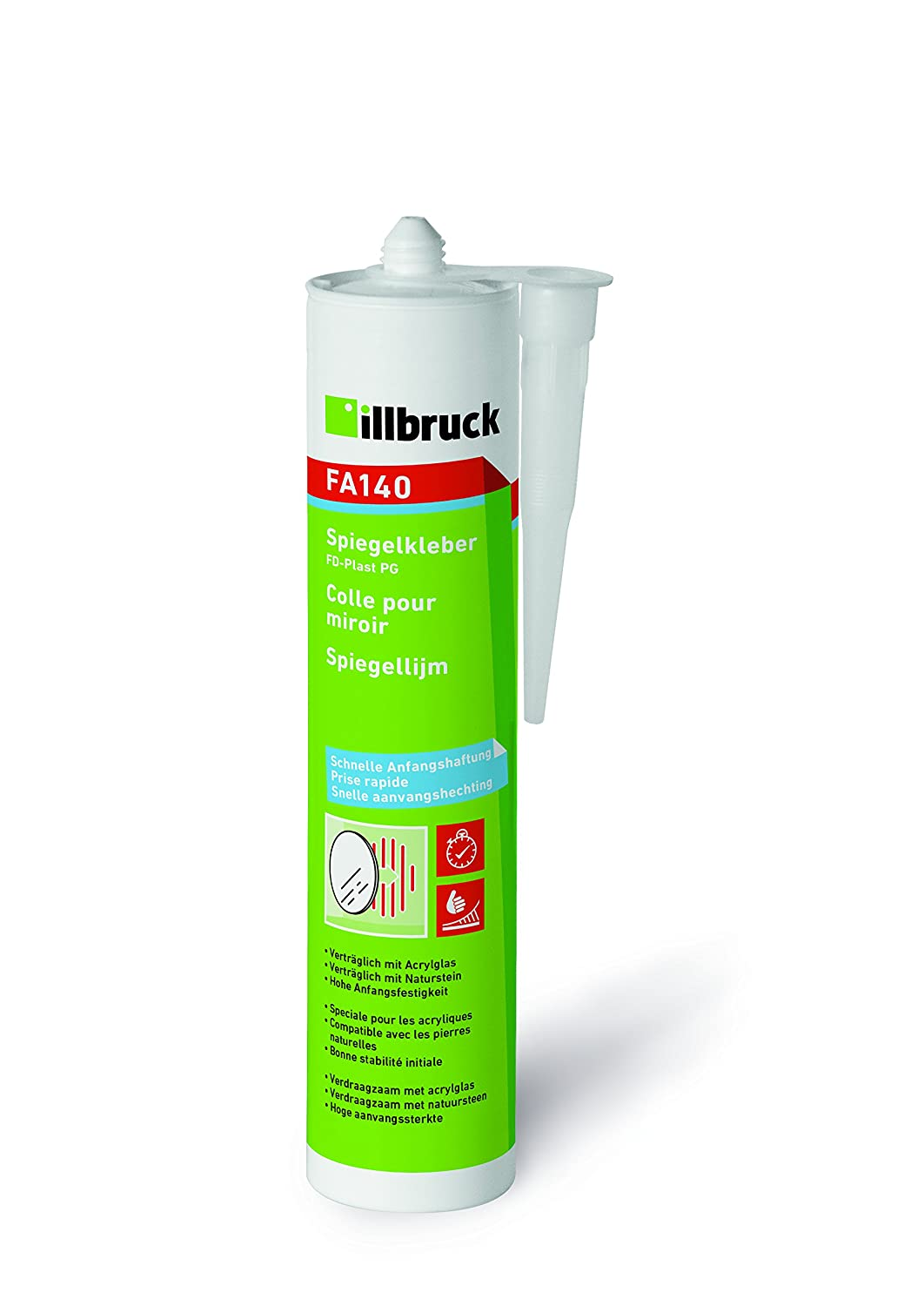 ILLBRUCK 4014431605129 Spiegelkleber FA940 310ml transparent