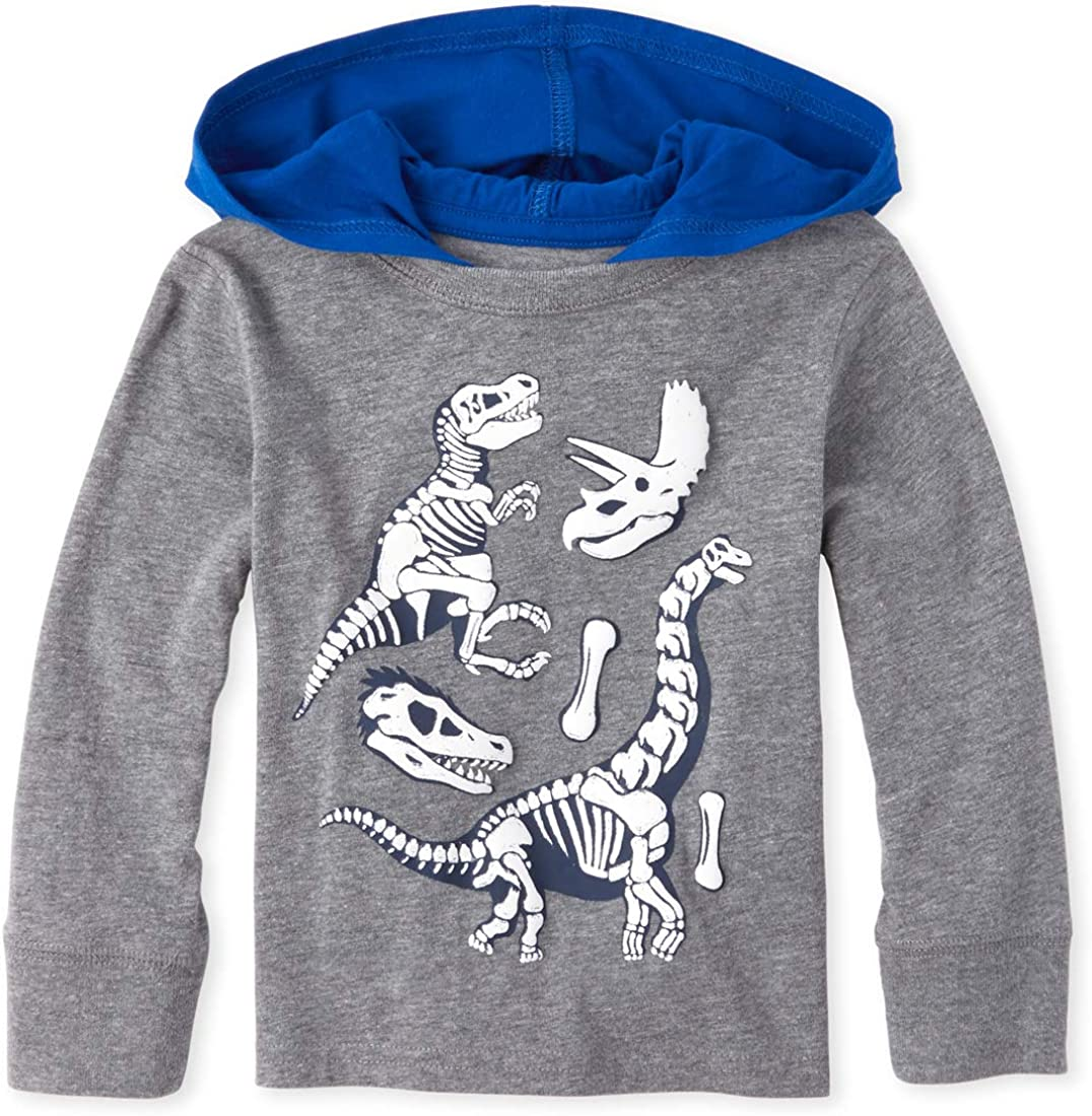 The Childrens Place Baby Boys Long Sleeve Hooded Shirt
