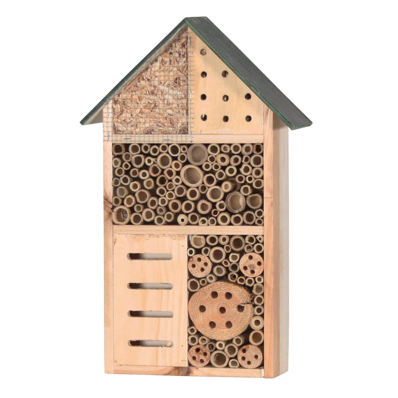 GYD Nichoir à Insectes en Bois pour Abeilles, Papillons, coccinelles, Maison à Insectes pour Le Jardin, 34 cm Maison à Insectes pour Le Jardin