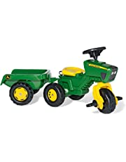 rolly toys S2605276 52769 Franz Cutter John Deere Pedal Tractor with Sound and Trailer
