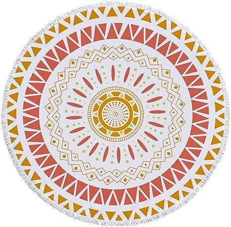 Toalla de Playa Mandala de Microfibra Redonda de Pavo Real, Borla de algodón, A10, 150 x 150 cm: Amazon.es: Deportes y aire libre