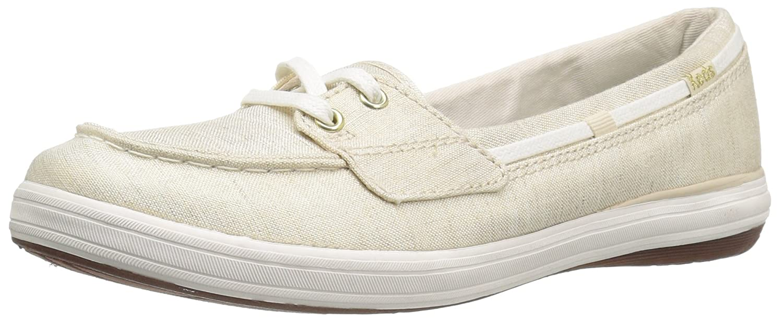 Keds Women's Glimmer Lurex Canvas Fashion Sneaker B01IC1GX1S 5 B(M) US|Natural/Gold