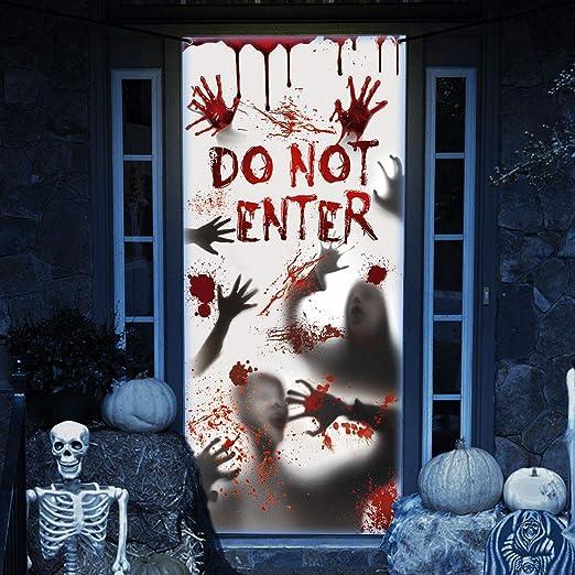 HALLOWEEN Window /& Door Covers Ghost Vampire Creepy VINTAGE 90/'s Decorations