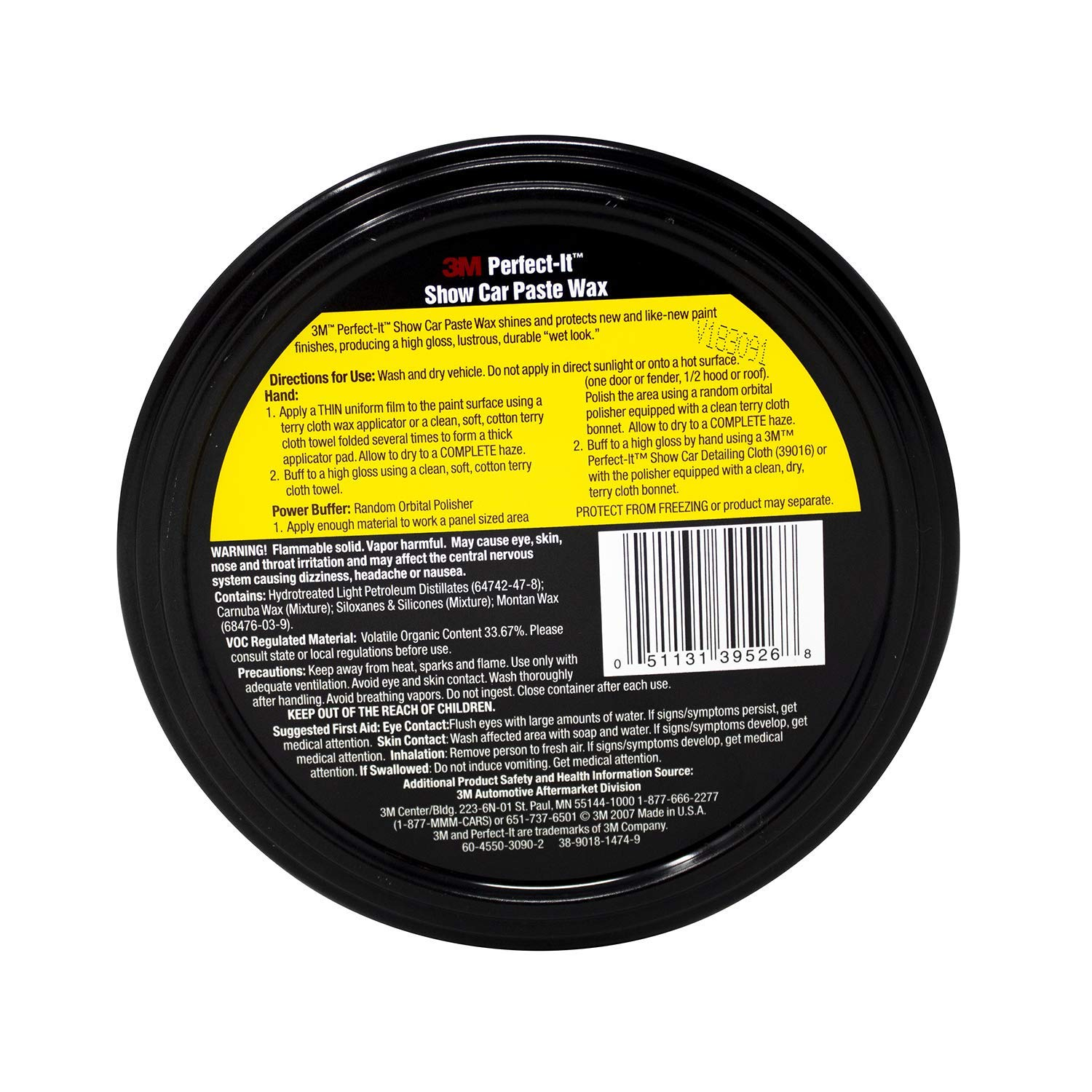 3M 39526 Perfect-It Show Car Paste Wax - 10.5 oz. by Perfect-It ...