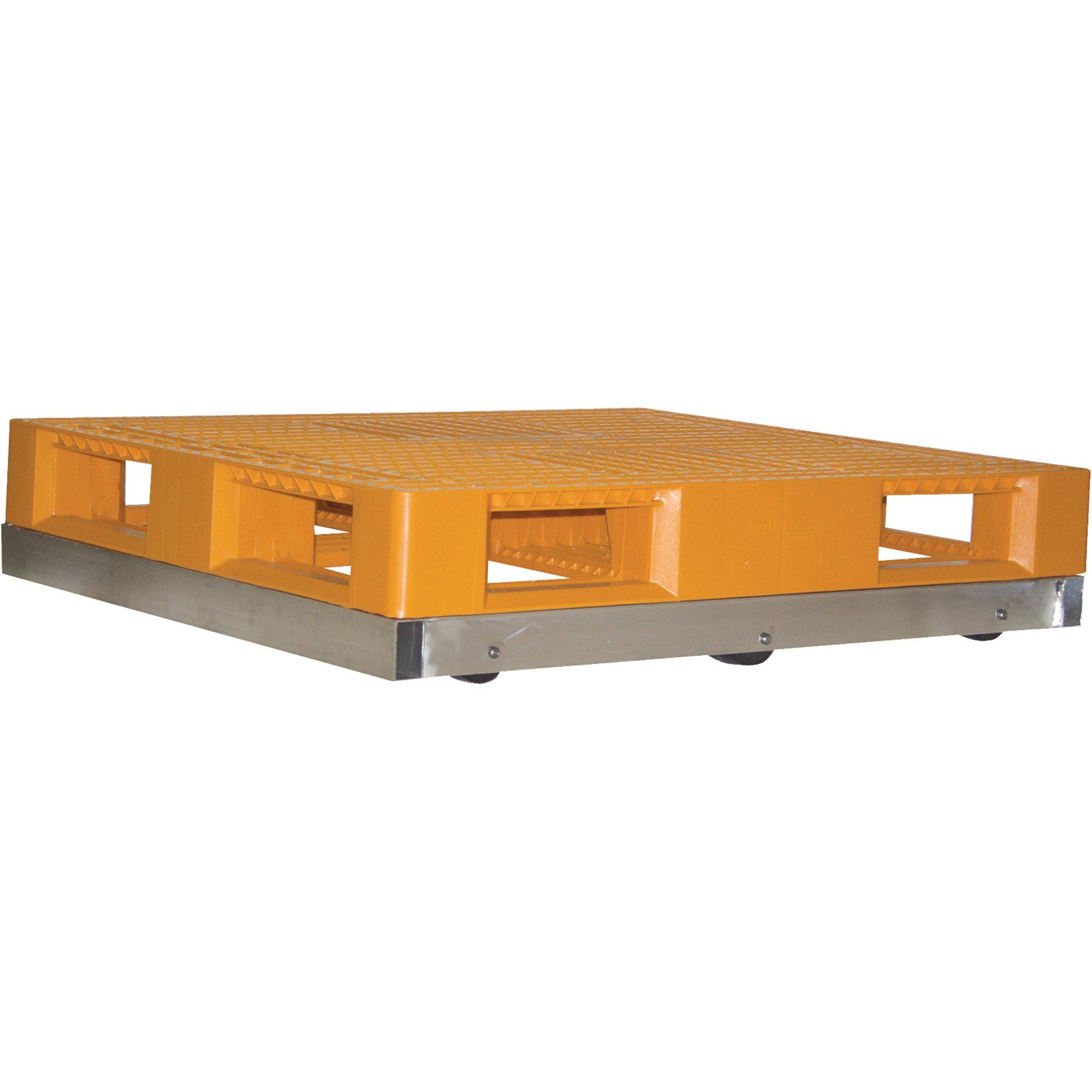 Vestil Aluminum Pallet Dolly - 6,000-Lb. Capacity, 42 in x 42in., Model# DOL-4242-8T