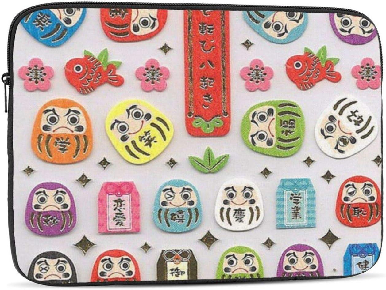 Daruma Dolls Protective Laptop Case,Laptop Case Bag for 10 Inch, 12 Inch, 13 Inch, 15 Inch, 17 Inch