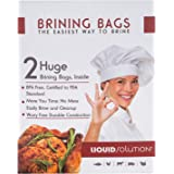 New and Improved Liquid Solution Turkey Brining Bags - No BPA - Heavier Duty Materials - Thicker Seams - Gusseted Bottom - Do