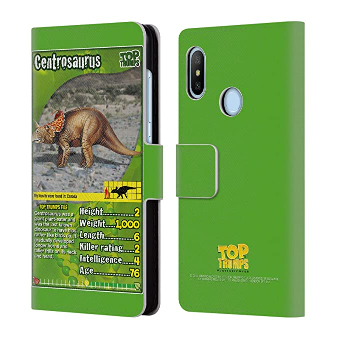 Amazon.com: Official Top Trumps Camarasaurus Dinosaurs 2 Leather Book Wallet Case Cover for Xiaomi Mi A2 Lite/Redmi 6 Pro: Cell Phones & Accessories