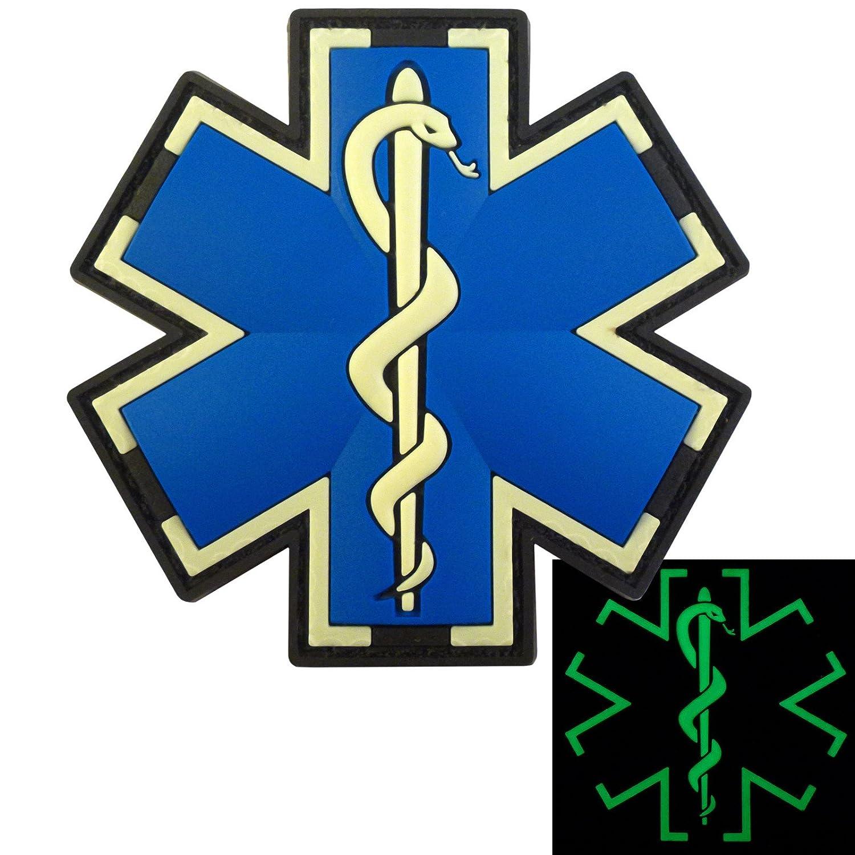 Glow Dark EMS EMT Medic Sanitäter Paramedic Star of Life Morale ... | {Sanitäter symbol 88}