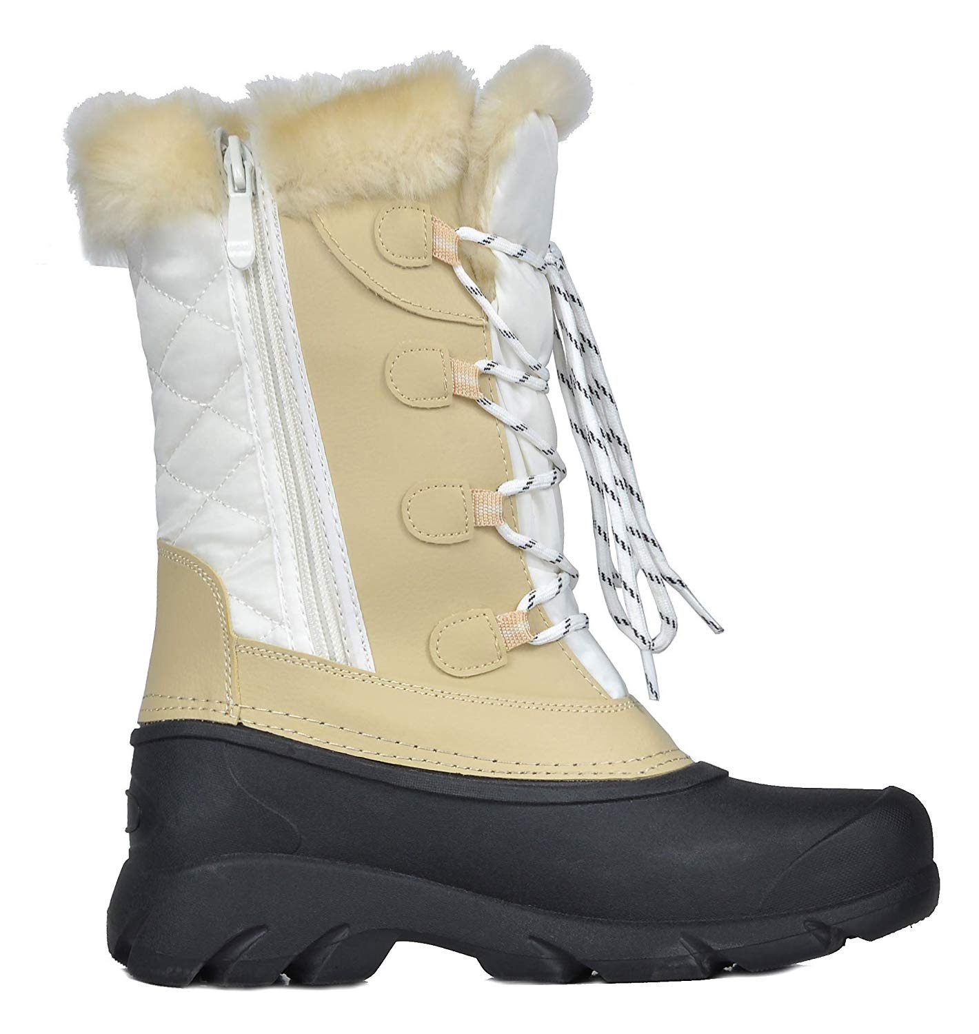 45f62d134e6 Women LINX DREAM PAIRS Women s Faux Fur Lined Mid Calf Winter Snow Boots