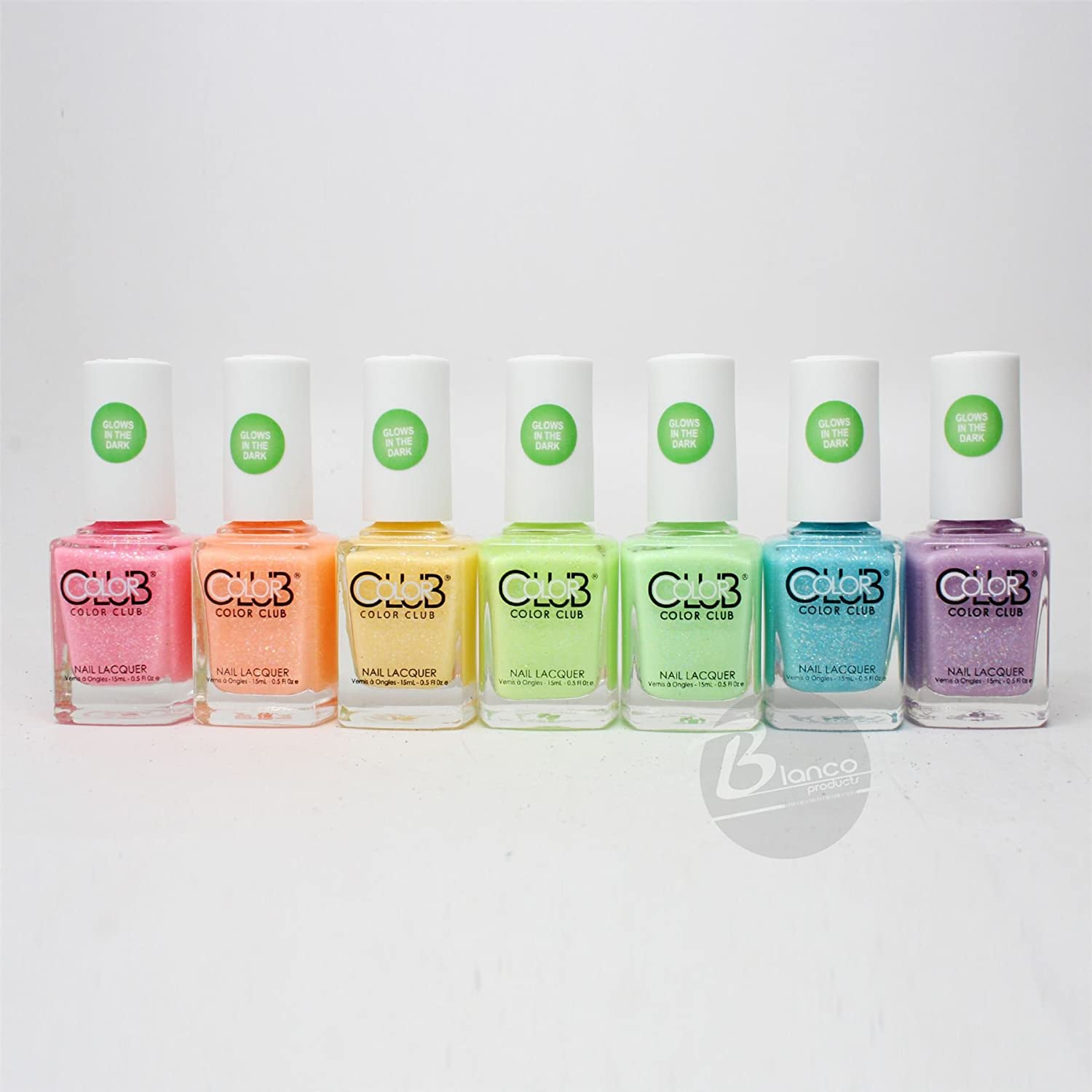 Amazon.com : Color Club glow in the dark Nail Polish 2015 Neon Set ...