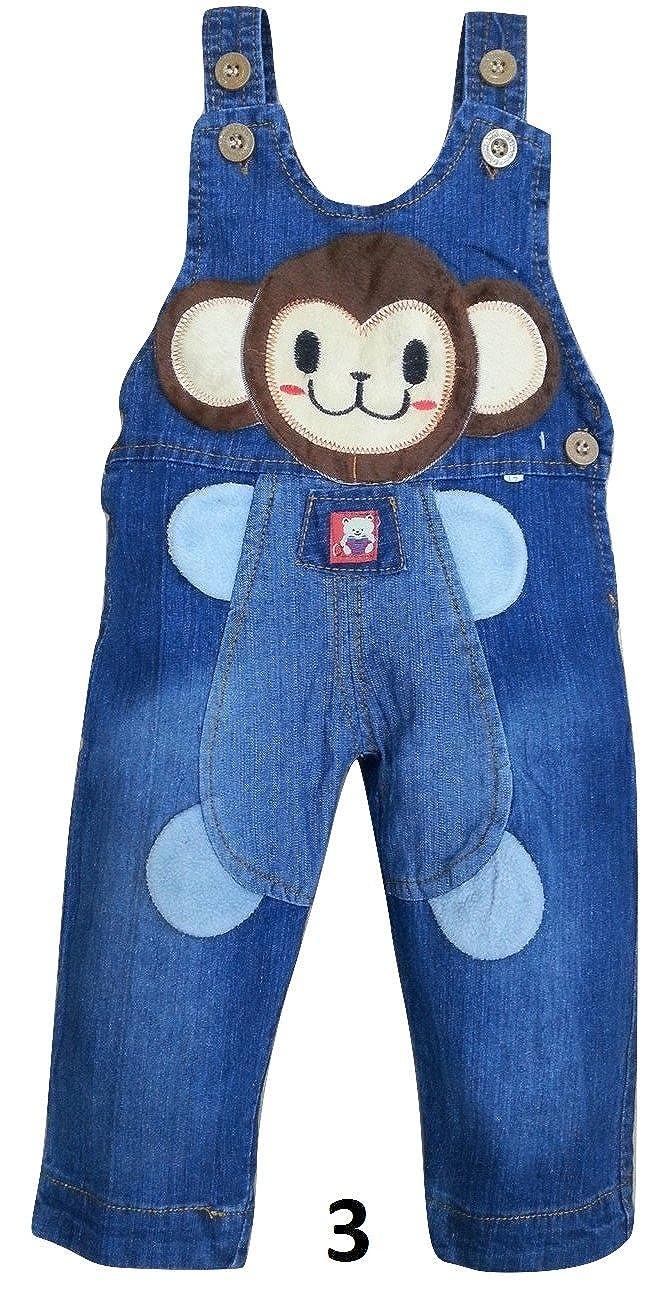 Indigo Kids Bib Overall Denim Dungarees Jeans Boys Girls Unisex for 6-12 Months Baby Children design3