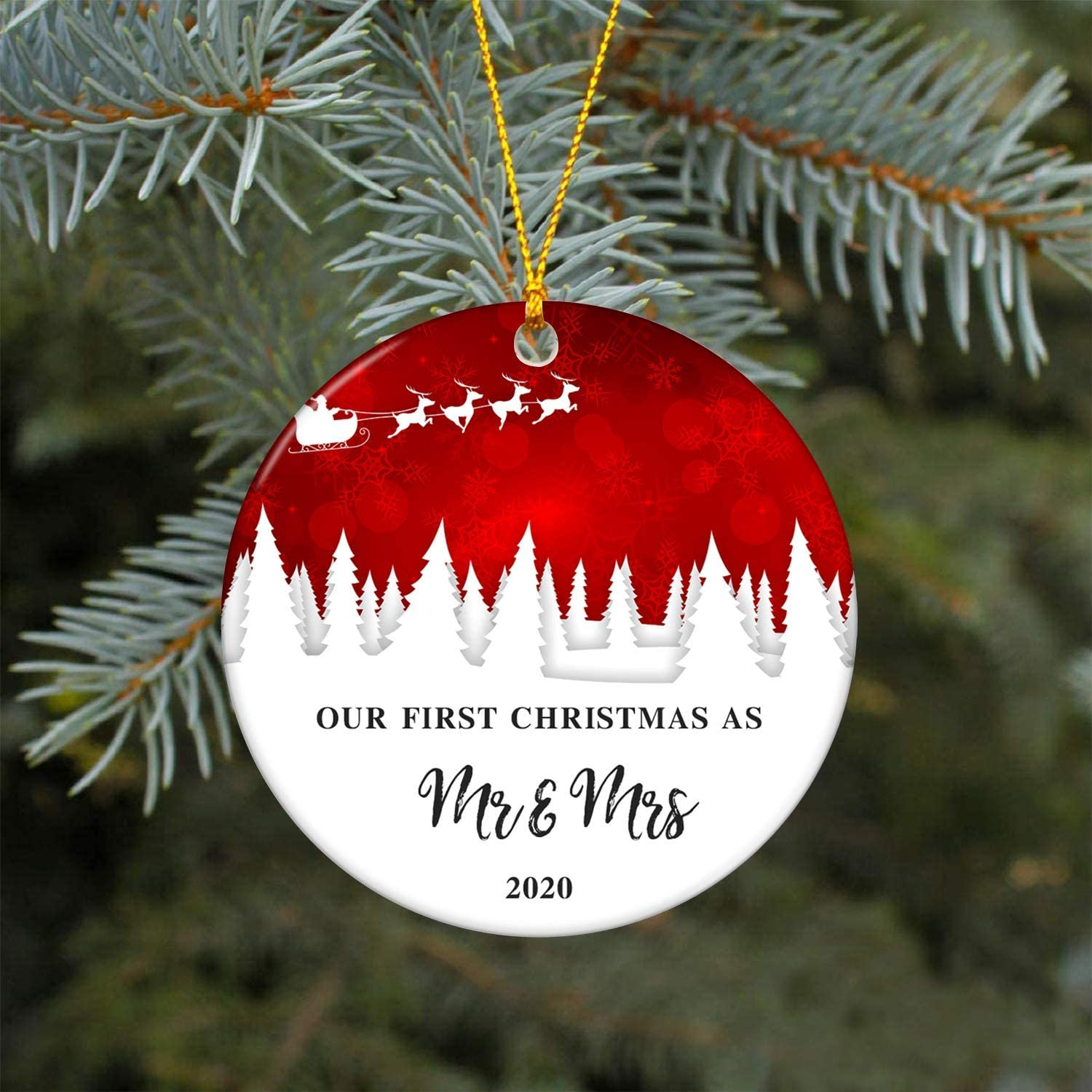 First Christmas as Mr and Mrs Couples Christmas ornament First Christmas Married Married Christmas decoration