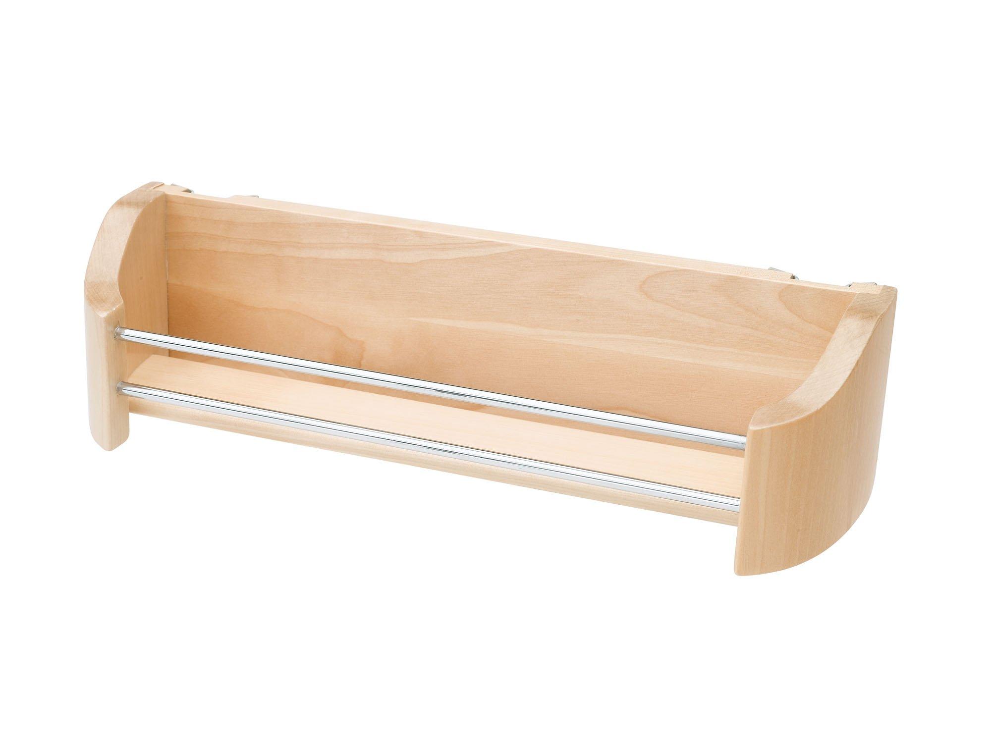Rev-A-Shelf 4231-20-52 Single Cabinet Door Mount Wood Storage Tray, 20'', Natural