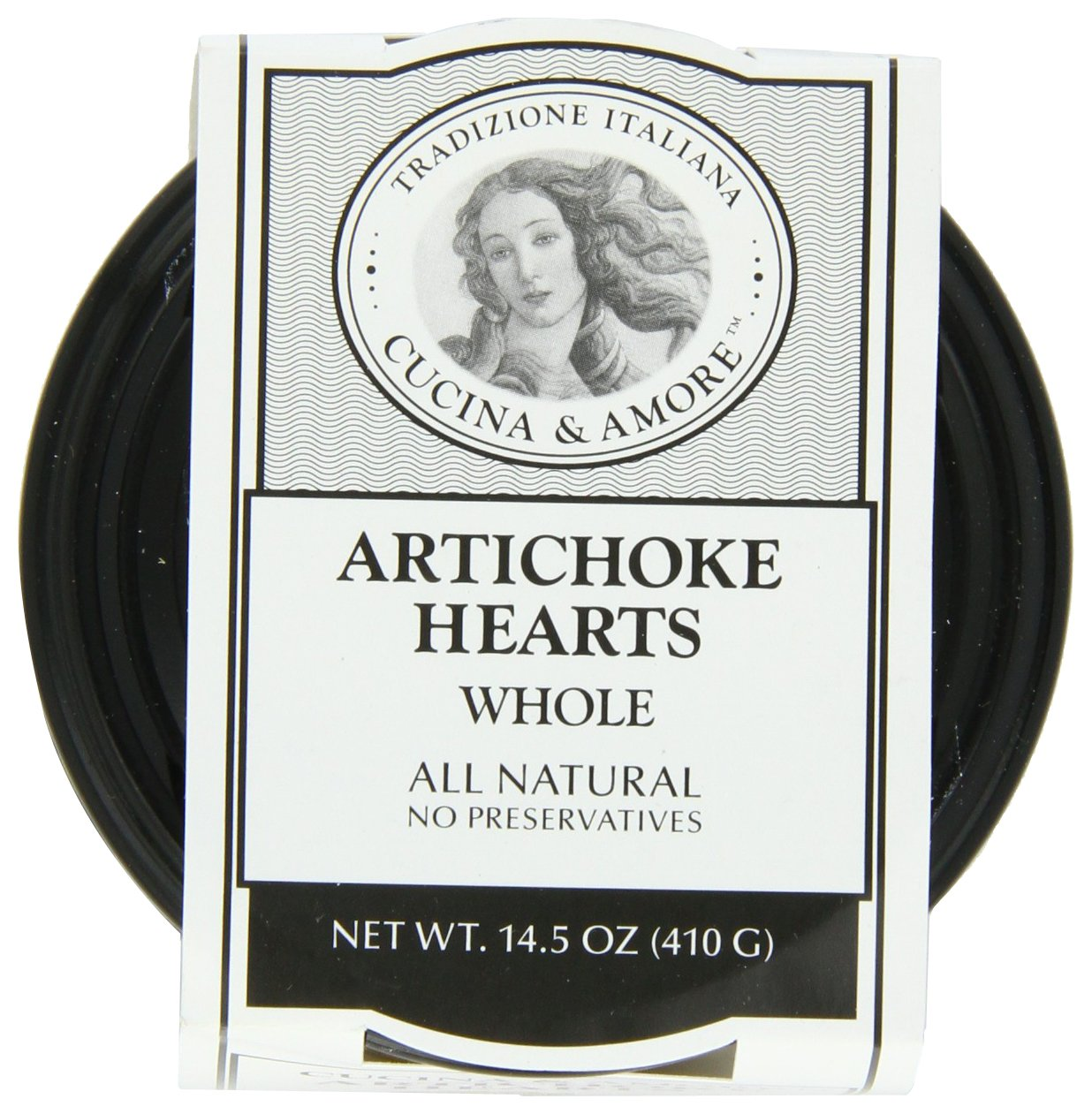 Cucina and Amore Grilled Marinated Whole Artichokes, 14.5 Ounce (Pack of 6)