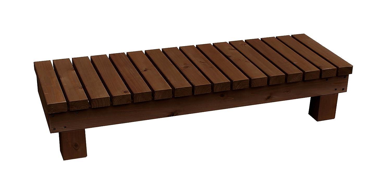 濡れ縁ステップ (踏み台)/板幅65mm 国産杉 間口1190mm×奥行400mm×高さ236mm DB(ダークブラウン)色 B075L4GCHK  DB(ダークブラウン)