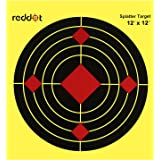 Reddot Shooting Targets - 12 inch Splatter Reactive Paper Targets Fluorescent Yellow Upon Impact Gun Rifle Pistol AirSoft BB Gun Pellet Gun Air Rifle
