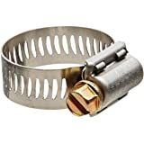 "Breeze Power-Seal Stainless Steel Hose Clamp, Worm-Drive, SAE Size 12, 11/16"" to 1-1/4"" Diameter Range, 1/2"" Bandwidth (Pack of 10)"