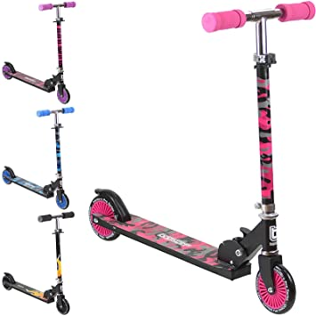 Bopster 2 Wheeled Folding Childrens Kick Scooter – Pink Camo