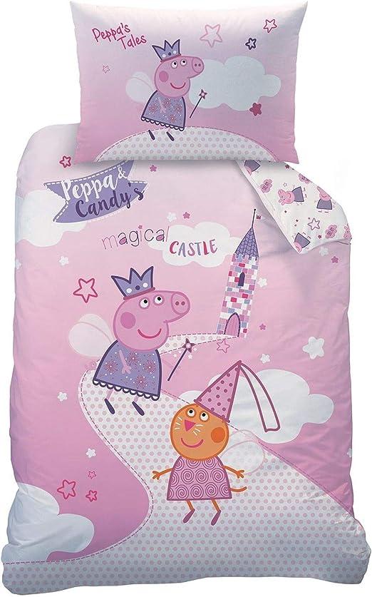 Character World Wende Kinderbettwäsche Peppa Pig Paw Patrol ect.100×135 cm