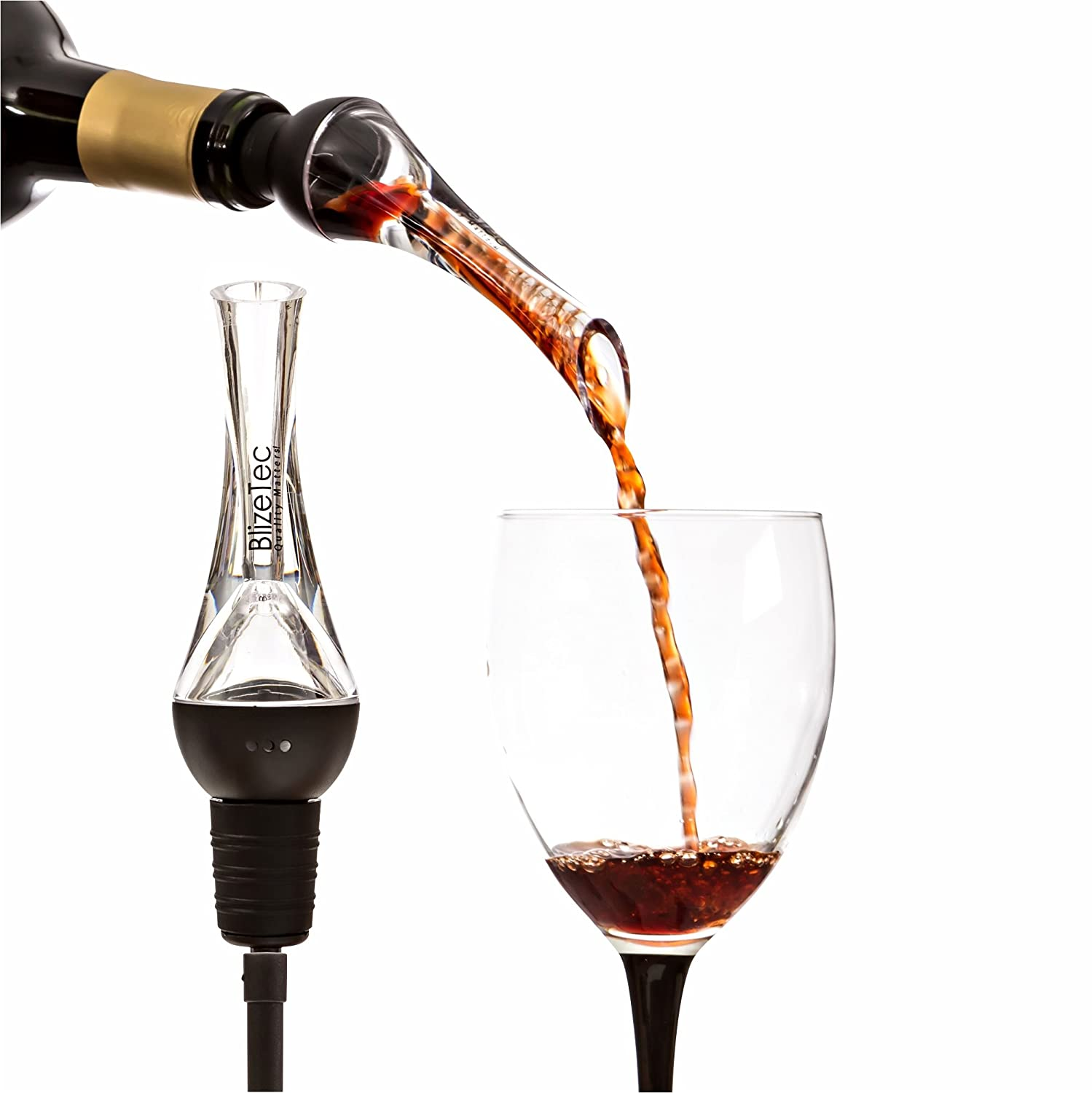 Wine Aerator Pourer: BlizeTec 2-in-1 Aerating Pourer with Decanter Spout
