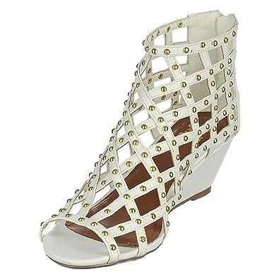 d8d41c5dba5 Shiekh 131 Wedge Sandal Sandal - White Size 8
