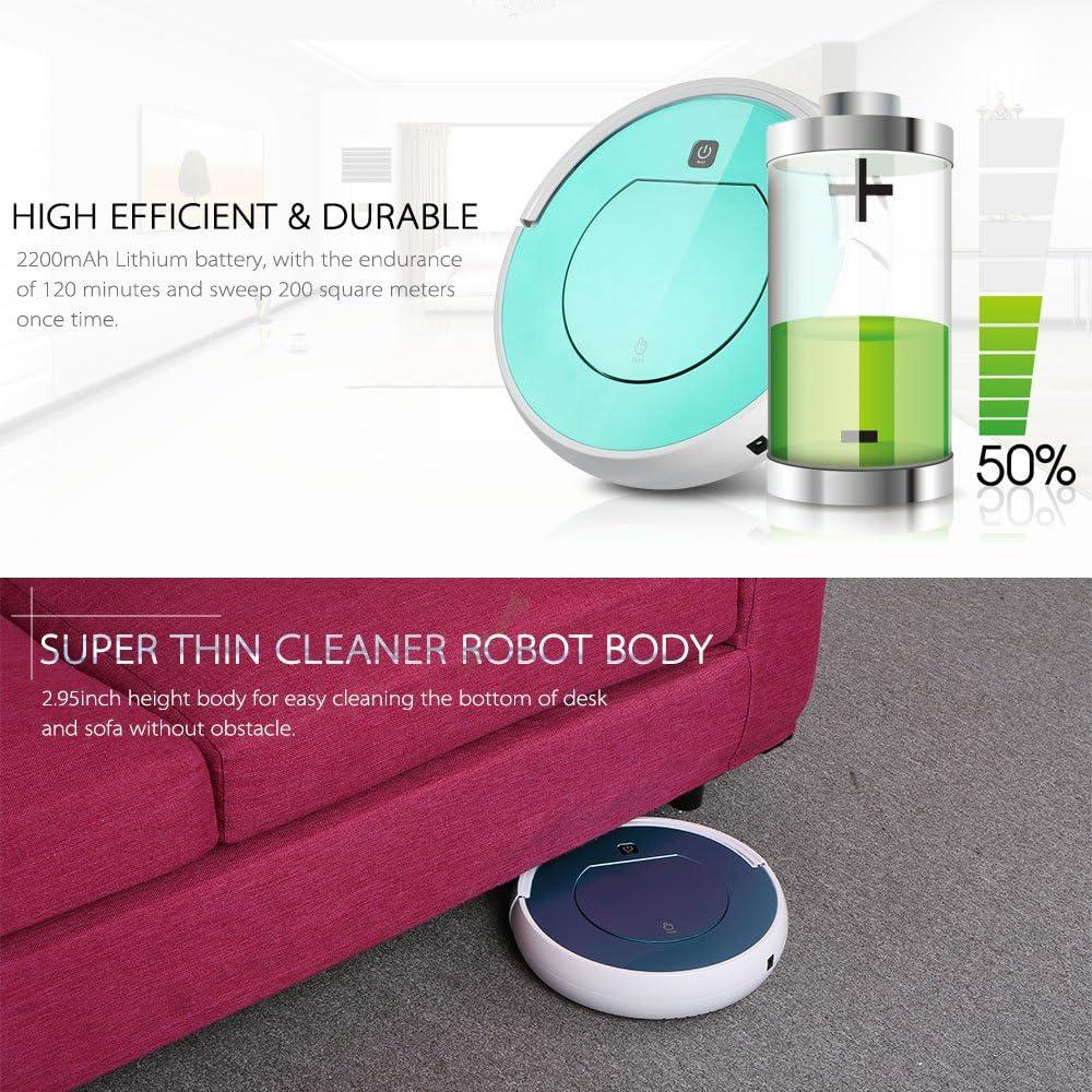 Decdeal - Robot Aspirador Automático de Inteligencia, Control Remoto Inalámbrico, Anticolisión: Amazon.es: Hogar