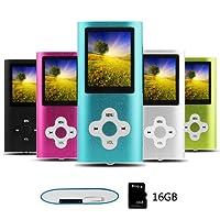 Btopllc MP3-Player, MP4-Player, Digitale Musik-Player 16 GB Interne Speicherkarte, Tragbare und kompakte MP3/MP4-Musik-Player, Media Player, Video Player, Ebook, Bild Musik-Player, Blau