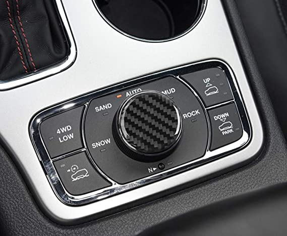For Jeep Grand Cherokee 2014-2019 Carbon Fiber Rear Trunk Switch Cover Trim
