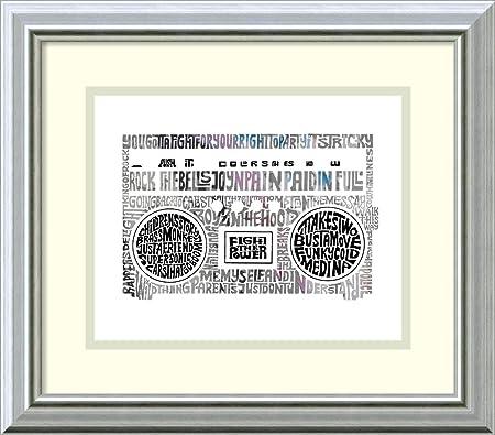 Amazon.com: Framed Art Print 80s Rap Tunes by L.A. Pop ...
