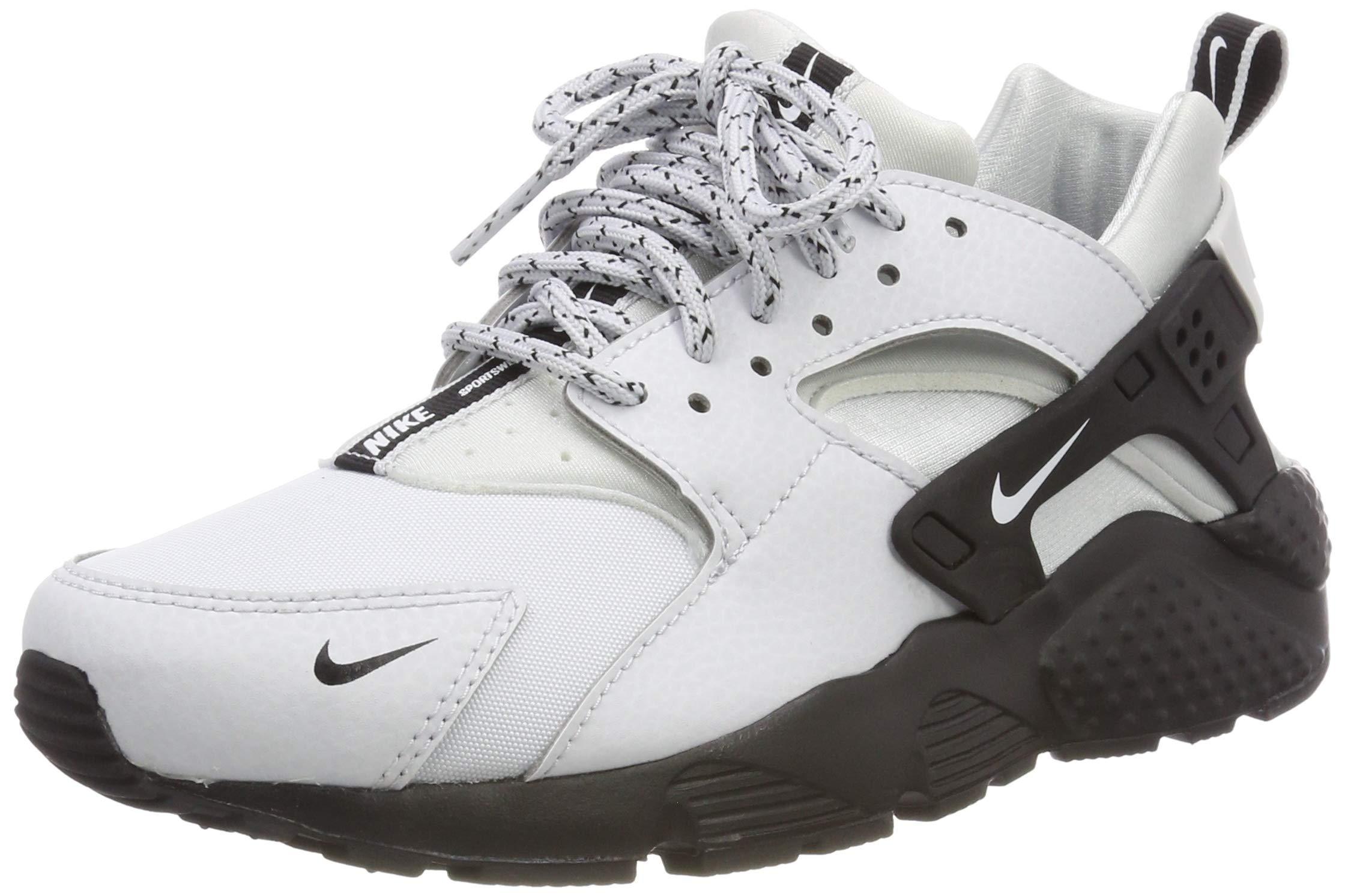 Nike Kids Huarache Run SE (GS) Pure Platinum/Wht/Black Running Shoe 4 Kids US