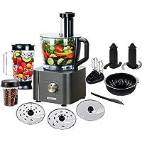TopStrong Procesador de Alimentos,11 en 1 Robot de Cocina Compacto,1100W, Capacidad 3.2 Litros,MultiTalent con…