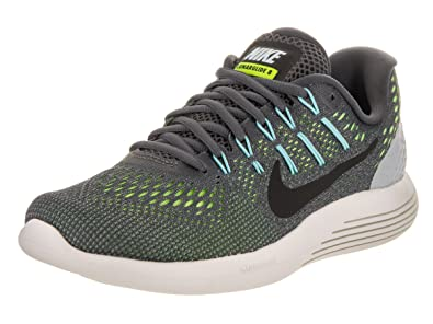 huge selection of c231b 9fdc1 ... shopping amazon nike womens lunarglide 8 dark grey black ghost green  running shoe 5.5 women us