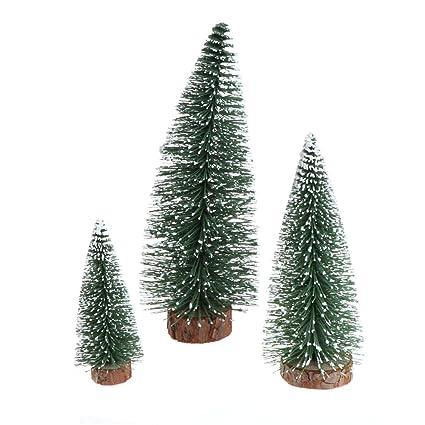 redriver fake christmas tree with snow wooden base xmas plant desktop decor