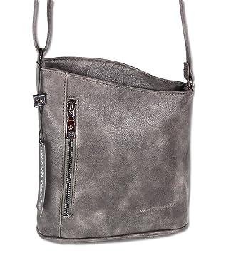 3291c4c154ea7 Jennifer Jones Taschen Damen Damentasche Handtasche Schultertasche  Umhängetasche Tasche klein Crossbody Bag XS grau   anthrazit