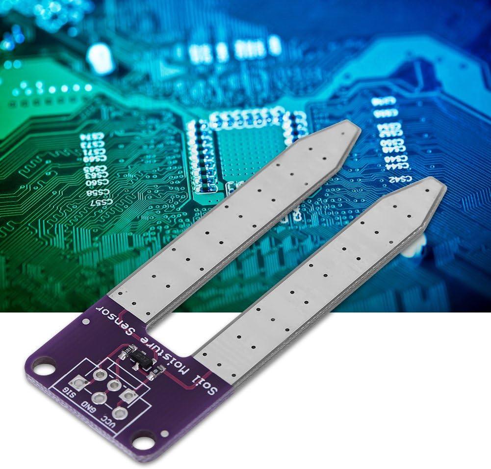 Akozon 10pcs Module de D/étection dhumidit/é Hygrom/ètre de Sol Capteur Test de Sol pour Arduino avec C/âble Dupont