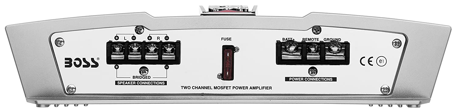 Class A//B 2-8 Ohm Stable 2 Channel Amplifier with Remote Subwoofer Level Control Boss Audio Systems Inc. BOSS Audio CH1202 Chaos 1200-Watt Full Range