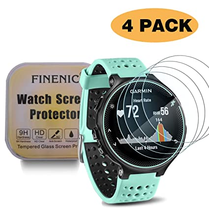 FINENIC Compatible with Garmin Forerunner smartwatch [4 Pack] Screen Protector for 235 225 620 220 Ultra Thin HD Clear Bubble Free Anti Scratch Anti ...