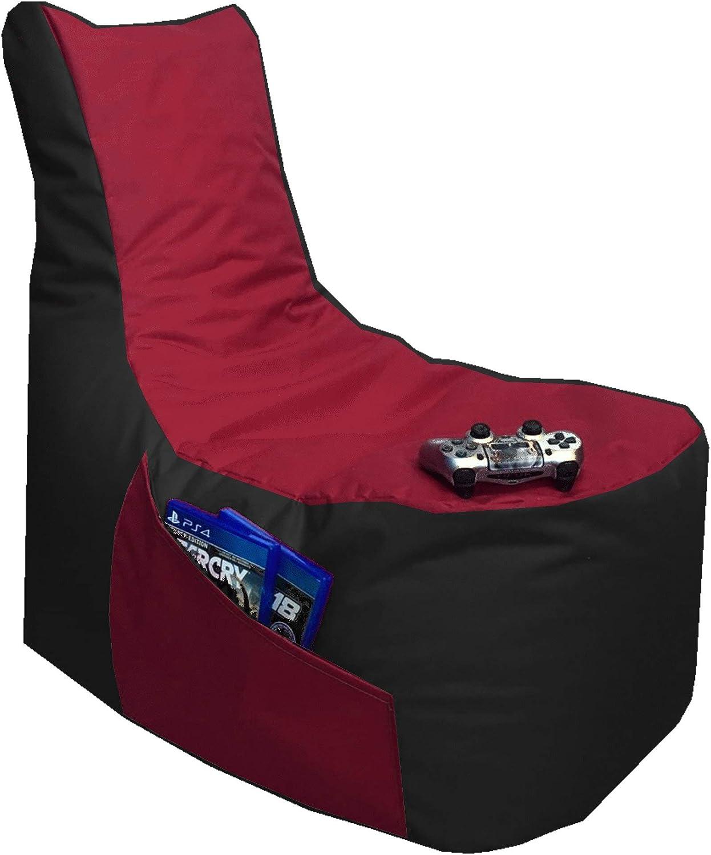 Hocker Big Gamer Sitzsack 2-farbig, Blau - Beige R/ückenkissen Sitzsack 3er Set Big Gamer Sessel mit EPS Sytropor F/üllung In /& Outdoor Sitzs/äcke Sessel Kissen Sofa Sitzkissen Bodenkissen