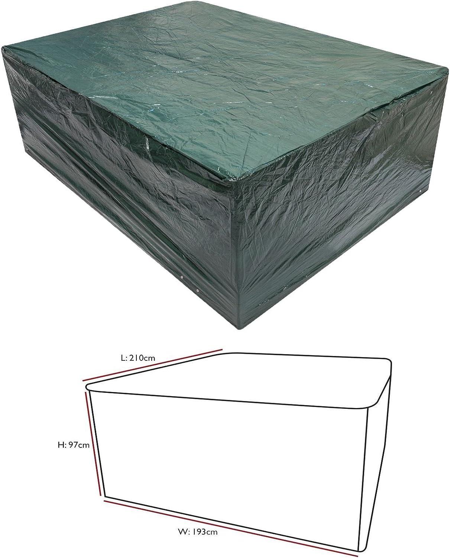 Nigma Neuf Vert Coque pour Medium Ovale de mobilier de Jardin Coque Protection Contre Les intempéries extérieur étanche Ensemble de Meubles de Jardin: Amazon.es: Jardín