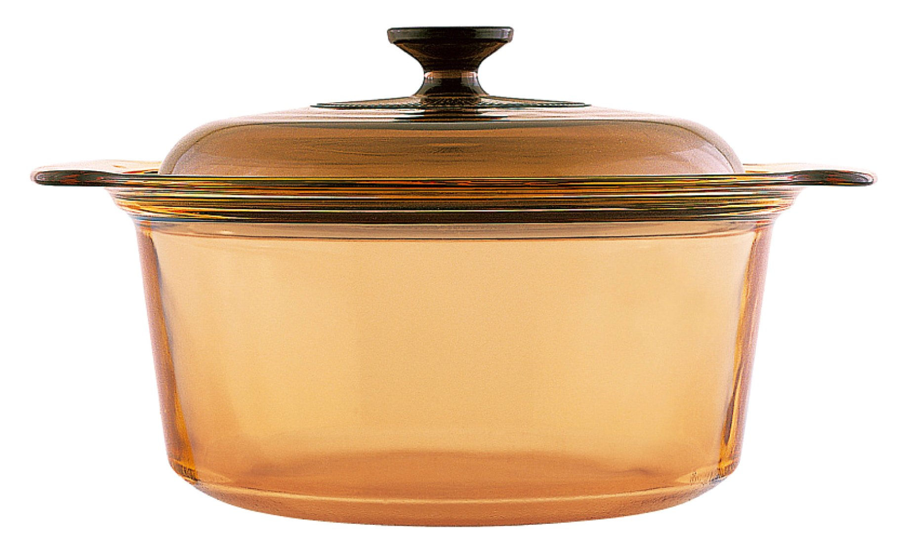 VISIONS 5 Litre Pyroceram Dutch Oven with Glass Cover, Amber, 5L