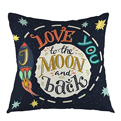 oFloral I Love You to The Moon and Back Romantic Quote ...