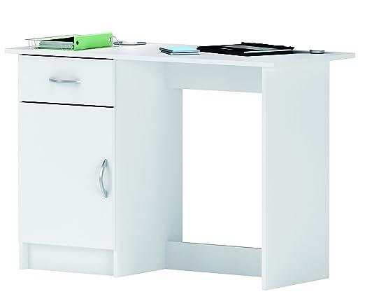 habeig Escritorio Blanco 126 Workstation Ordenador - Mesa IDIMEX ...